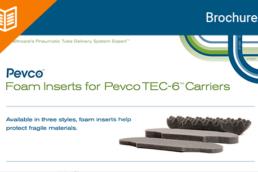 Pevco TEC-6 Foam Inserts Product Sheet