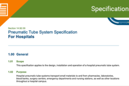 Pneumatic Tube System Specification Section